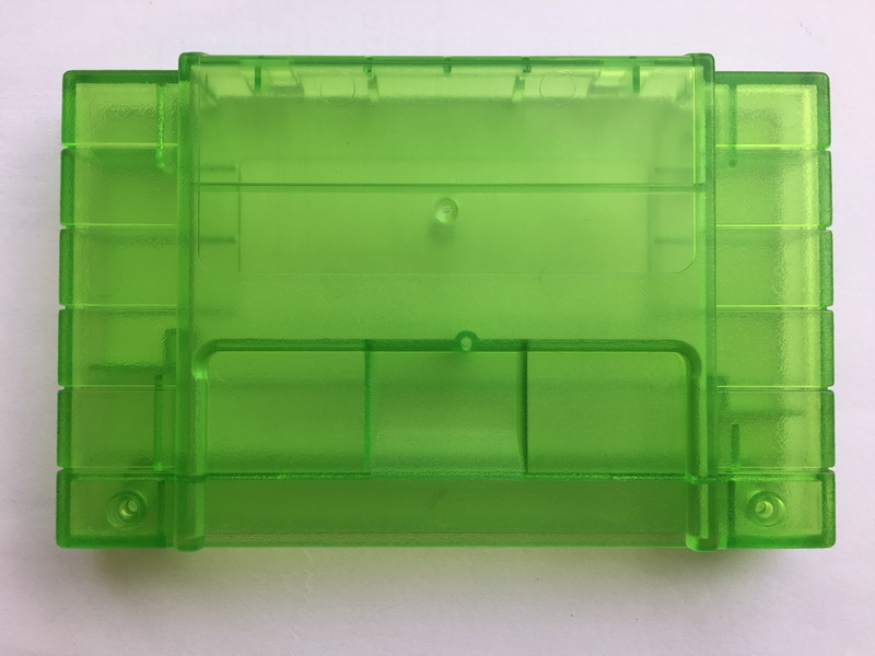 10pcs set Transparent Green Cartridge Case shell With Screws for Super S N E S Systems