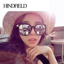 HINDFIELD Moda Revestimiento de Sol Mujeres Diseñador de la Marca Vintage Retro Gafas de sol Redondas Gafas de Sol Para Mujer gafas de sol mujer