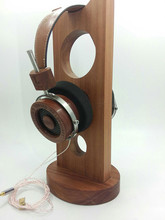 DIY wooden headset 44mm driver silver plated cable(don't contain the Headset bracket)