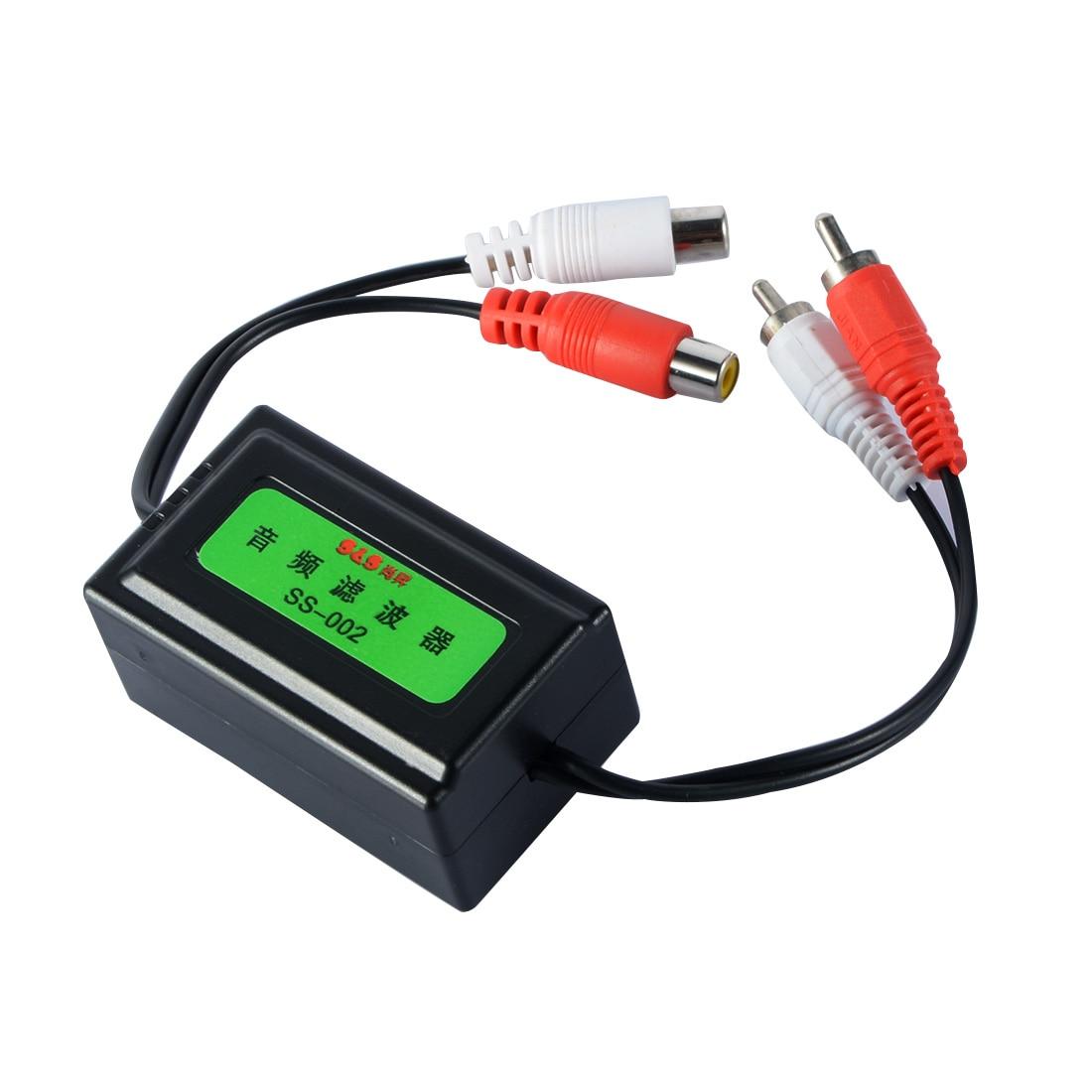 Nuevo Producto amplificador de tipo RCA para coche de 3,5mm Filtro de ruido de Audio aislador de bucle de tierra supresor 6,3x3,8x3cm fácil de instalar 5 uds 3,5 MM Clip de plástico negro en EMI RFI Cable supresor de ruido ferrita núcleo filtros extraíbles