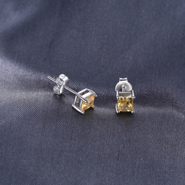 JewelryPalace Square 0.6ct Natural Citrine 925 Sterling Silver Stud Earrings Fashion Fine Jewelry for Women New Anniversary Gift-in Earrings from Jewelry & Accessories on Aliexpress.com | Alibaba Group