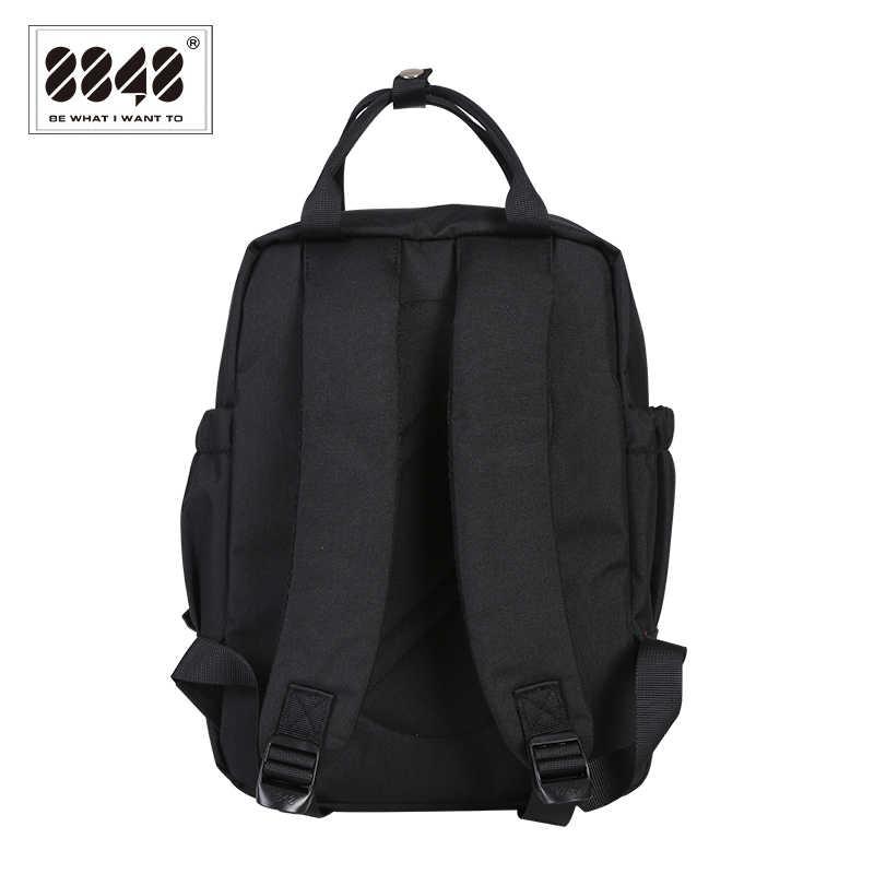 8848 kobiet Preppy szkolne torby dla studentka czarny plecak płócienne torby podróżne kobieta plecak na ramię Mochila 003-008-015
