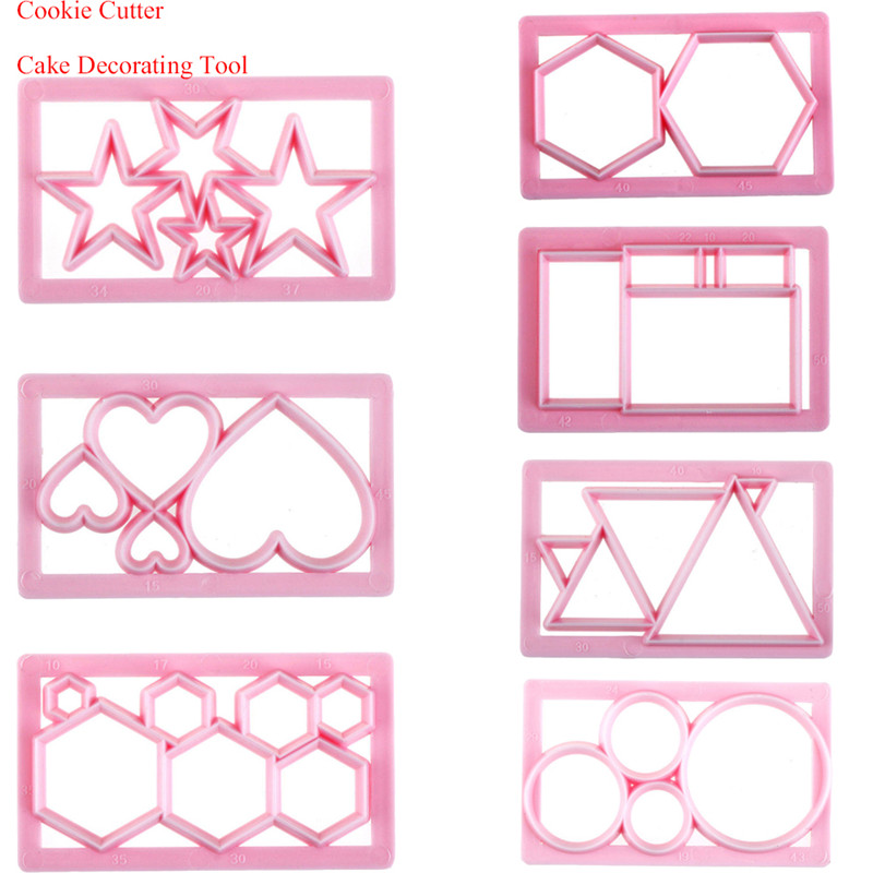Multi Shape Hot Sale Cake Decorating Tool DIY Fondant Cookie Cutter Mold Free Shipping