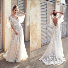 2019 New Women Dress Sexy Deep  Casual Party Backless Sleeveless White Dresses Vacation Wear