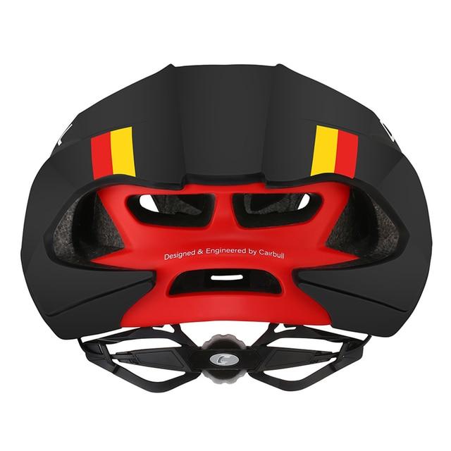 Cairbull novo capacete pneumático de velocidade, capacete esportivo de corrida para bicicleta de estrada, modelo aerodinâmico para ciclismo, aero 4