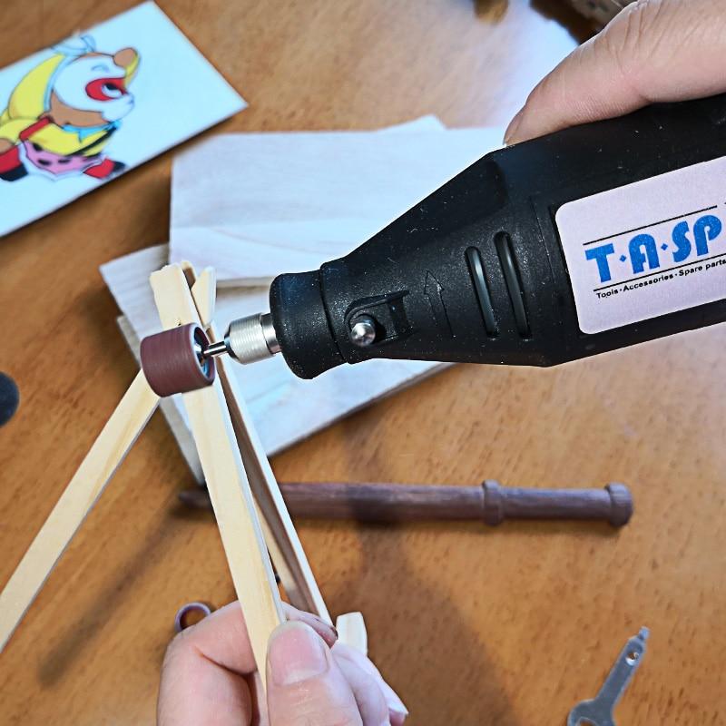 Set di utensili rotanti TASP 230V 130W Kit di mini trapano elettrico - Utensili elettrici - Fotografia 3