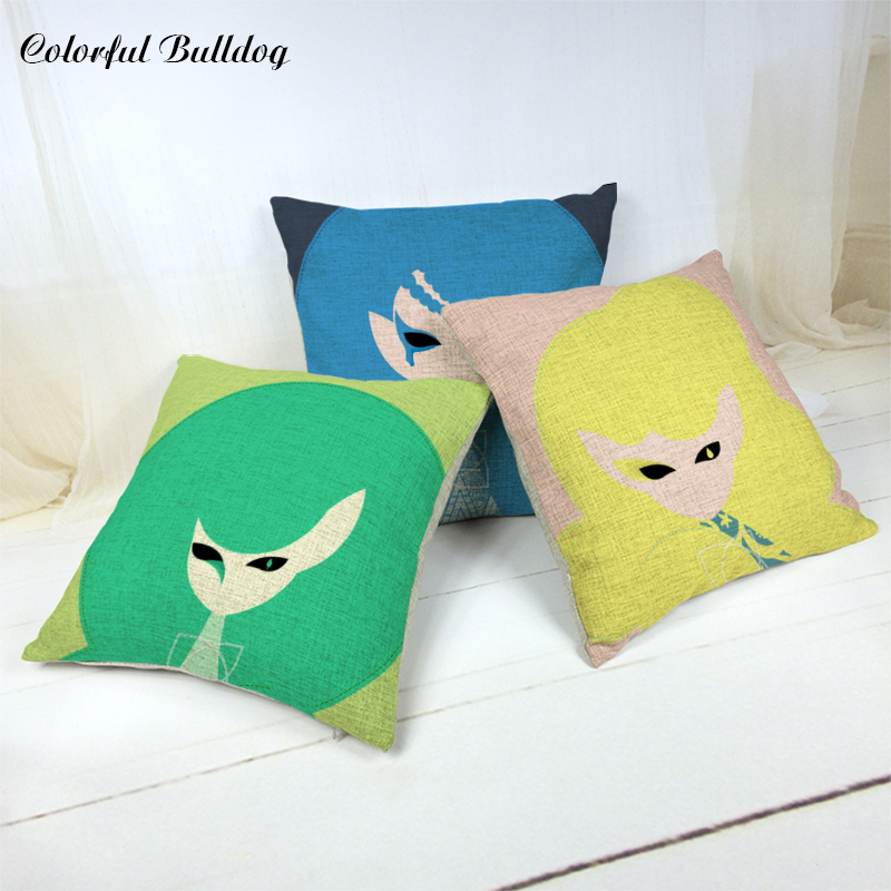 Wholesale Cartoon Character Cushion Cover Cute Little Girl A Variety of Optional 1 Side Print 45*45cm Car Home Sofa Pillowcases