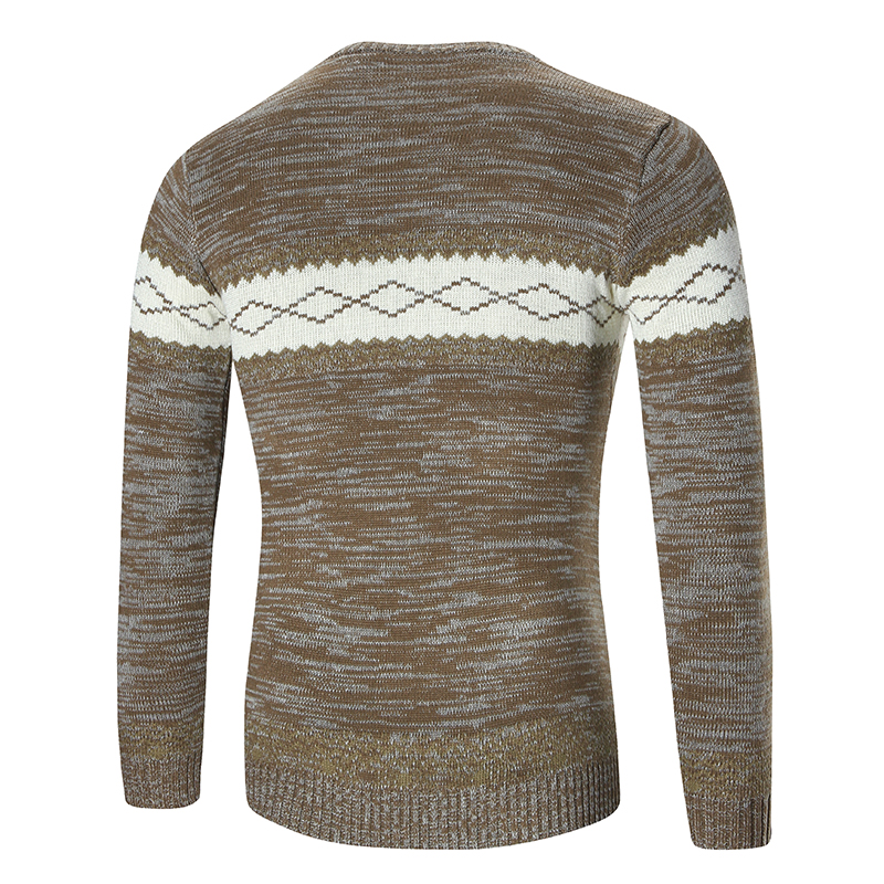 Autumn Men font b Sweaters b font And Pullovers Causal Warm Round Neck Knitted font b