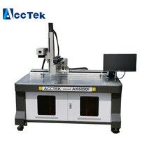 CE standard AccTek air cooling steel aluminum plastic fiber laser marking machine 600*900mm working size high standard sample ysbc37353e 11 alloy steel standard machine