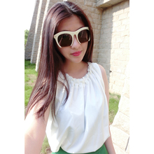 2016 Summer New Women Strap Tank Tops Sleeveless White Chiffon Casual T-shirt Vest Solid Color Tops Camis