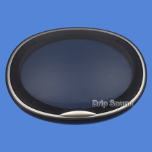 """Voor 6 """"x 9"""" 6x9 inch Speaker Grill Cover Auto Audio Decoratieve Cirkel Metalen Grille bescherming"""