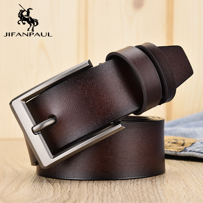 JIFANPAULHigh Quality Men's Leather Belt Luxury Design Belt Men's Leather Fashion Belt Men's Jeans Men's Jeans Match Student