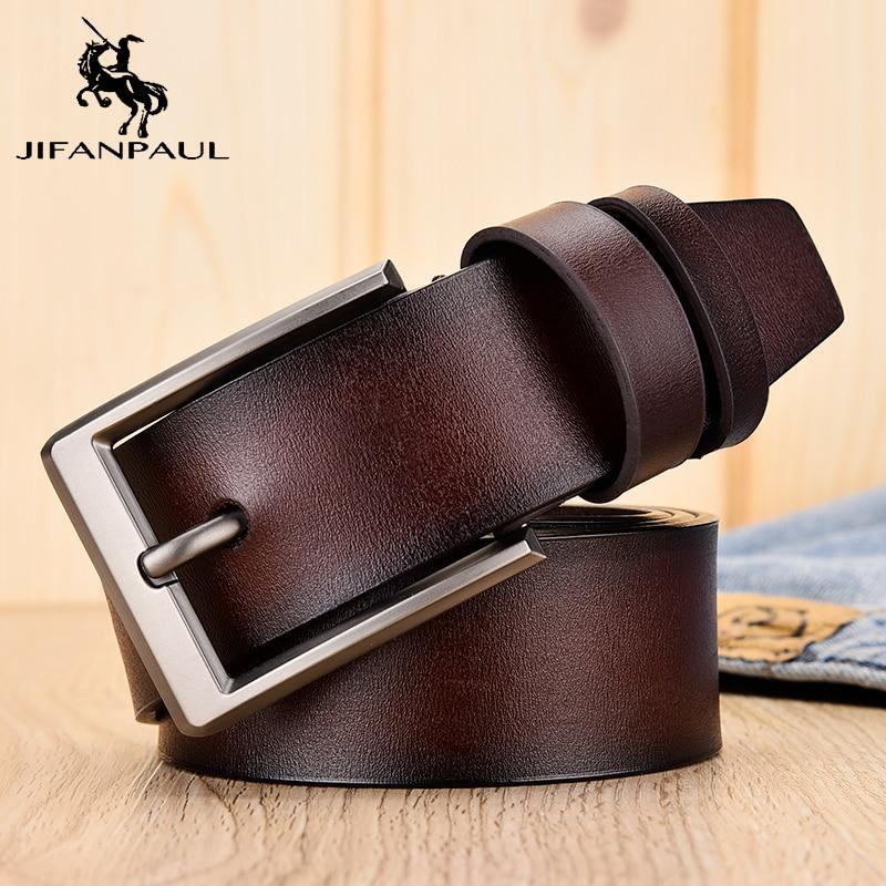 JIFANPAULHigh Quality Men's Leather Belt Luxury Design Belt Men's Leather Fashion Belt Men's Jeans Men's Jeans Match Student