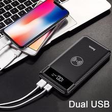 HOCO Qi J11 Wireless Charging Power Bank 10000mAh For iPhone X 8 8Plus Portable Dual USB 2.1A with LED Display External Battery