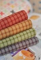 Señorita Wu tienda handmade lavado paño DIY Primer Grupo fina celosía material acolchado hilo de algodón teñido de tela