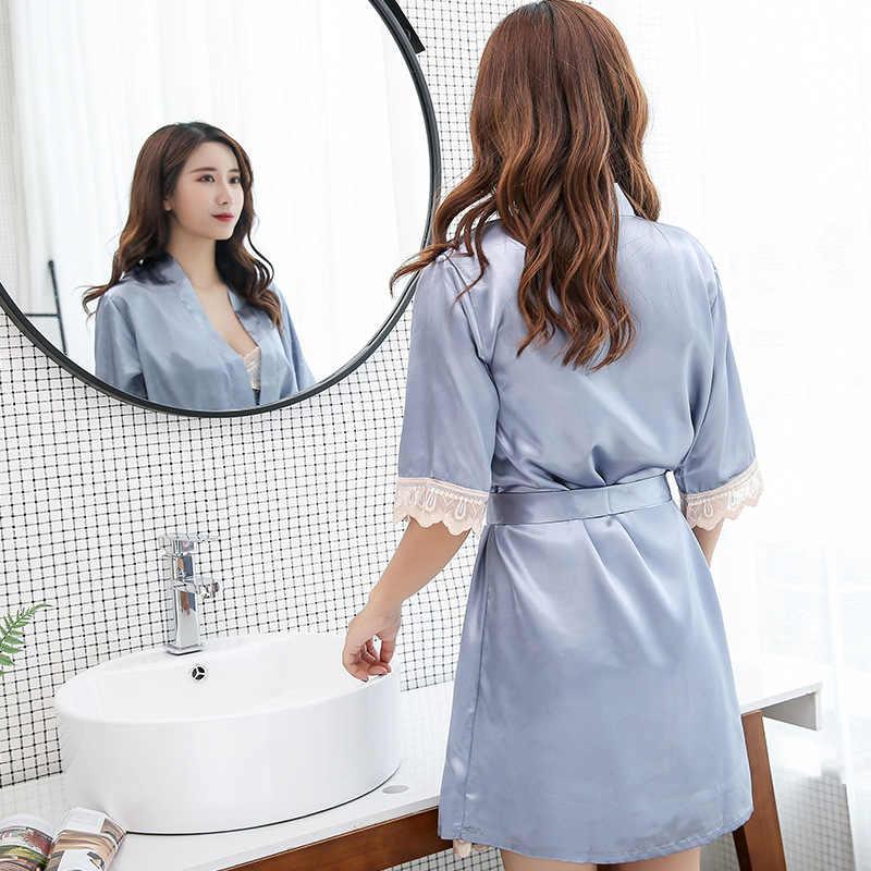Модные женские летние мини-кимоно, халат, женское банное платье из вискозы, ночная рубашка юката, пижамы, пижамы, женская пижама, размер m-xl