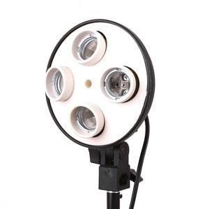 Image 2 - Hakutatz 4 in 1 E27 Base Socket Light Lamp Bulb Holder Adapter for Photography Video Studio Softbox Photo Studio Bulb Holder