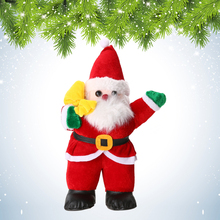 Hot Sale Christmas Xmas Table Tree Ornament 35cm Cute Santa Claus Design Indoor Outdoor Christmas Standing Decoration Supplies