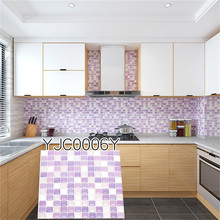 Amazon Art Tile 3d Wall sticker Decals for Beauty Mosaic Home Kitchen Decor 9.3x9.3 Brick  Wallpaper Peel and Sticker
