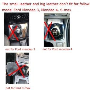 Image 4 - Pomo de cambio de marchas para Ford Focus 2, MK2, FL, MK3, MK4, MK7, MONDEO, KUGA, GALAXY, FIESTA, color plateado y negro, 5 velocidades, Manual