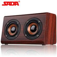 SADA деревянный Bluetooth динамик подходит для мобильного телефона ноутбука динамик PC разъем TF карта/AUX мини динамик Бас Звук
