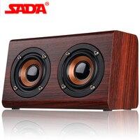 SADA 2018 New Wooden Bluetooth speaker suitable for mobile phone notebook speaker PC socket TF card/AUX mini speaker bass sound