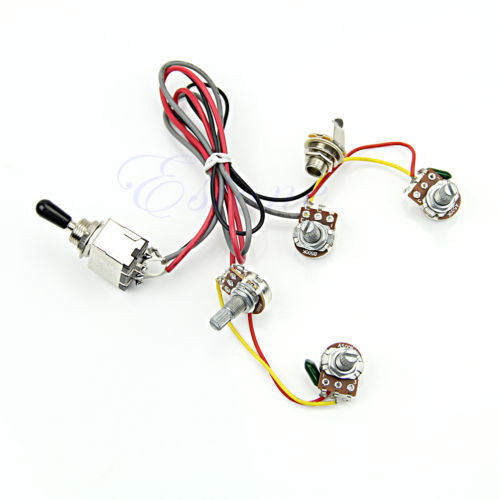 Wiring Harness 2v  2t 3 Way Toggle Switch 500k Pots For