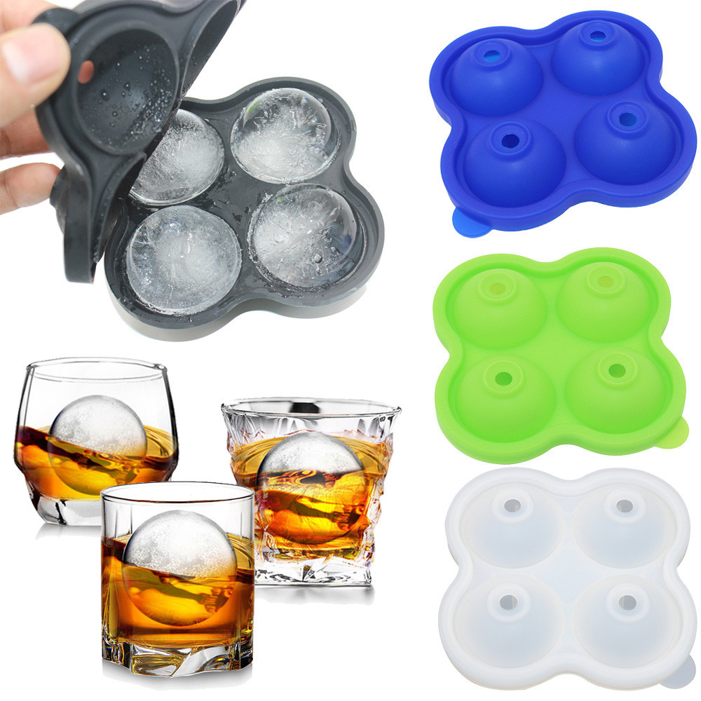 1PC Ice Lattice Mold 20 Holes Round Hockey Form Ice Maker Kitchen Accessories Soft Material For Whiskey High Quality Hot Sale