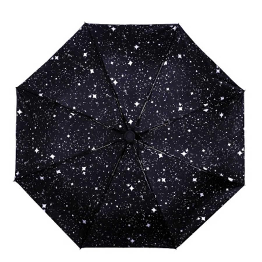 Звездный анти-УФ Зонт для защиты от солнца и дождя, автоматический мини-художественный солнцезащитный зонт для женщин, ветрозащитные Зонты Guarda для детей UBY037