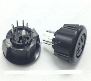 100 sztuk DS-5-07A czarny 5 pinów Circular S Terminal gniazdo żeńskie 5P DIN złącza