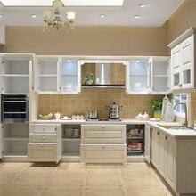 Лаковый кухонный шкаф современный кухонный шкаф образец