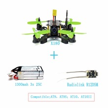 JMT X180 DIY Quadcopter BNF Assembled Frame Kit with OSD FPV HD 700TVL CAM Mini RC Racing Drone with Radiolink R6DSM RX F21233-D