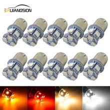 Светодиодная лампа BA15S, 10 шт., 12 В, 24 в перем. Тока, 1156 лм, 5050, 4 цвета