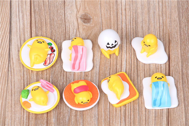 Cute Lovely Gudetama Pvc Figures Toys Gudetama Mini Dolls