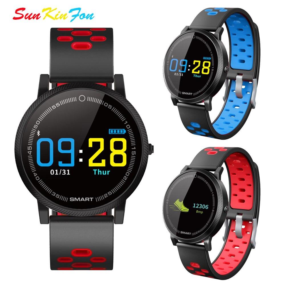 S27 couleur écran intelligent Bracelet fréquence cardiaque Fitness Tracker intelligent Bracelet pression artérielle pour Huawei Honor 9i jouer 10 V10 9 6A