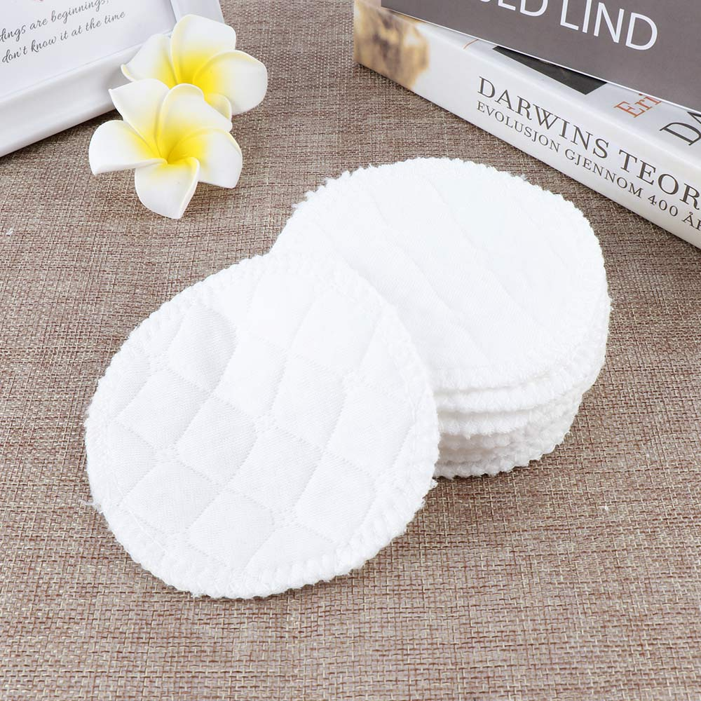 12Pcs/set 3 Layers Cotton Reusable Breast Pads Nursing Waterproof Organic Plain Washable Pad Baby Breastfeeding Accessories