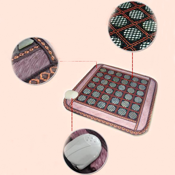Good & Free shipping! Natural Tourmaline Jade Mat Office&Home Health Care Pad Yoga Mat AC220V 45*45CM good quality natural jade mat tourmaline heat chair cushion far infrared heat pad health care mat ac220v 45 45cm free shipping