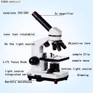 Image 2 - AIBOULLY ביולוגי מיקרוסקופ זום 1600 פעמים וצמחים דם ניתוח מכשיר תלמיד מיקרוסקופ מדע ניסוי