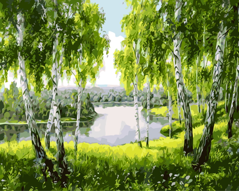 Green Woods Canvas Paintings With No Frame Home Decoration