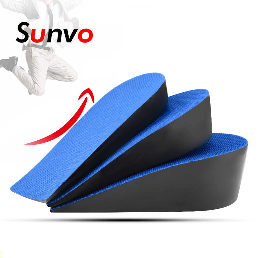 Men Women Heightening Insole Breathable Heel Insert Invisible Half Shoes Pad