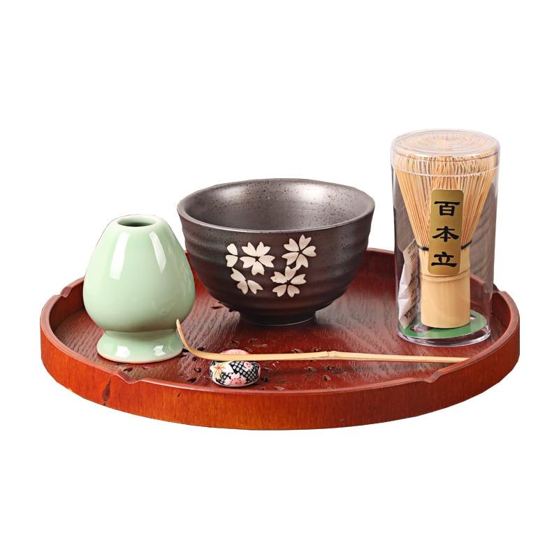 Ensembles de thé Matcha japonais élégant ensemble cadeau Matcha traditionnel bambou naturel fouet Matcha Scoop cérémonie Matcha bol fouet titulaire