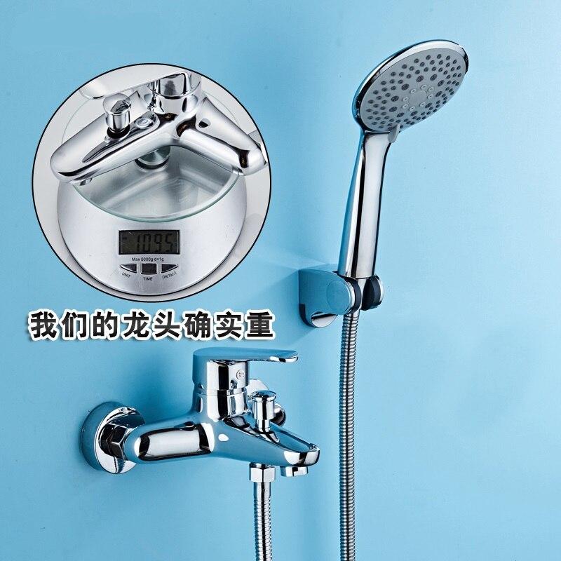 Кран открыть цилиндр душ воды меди горячей и холодной здоровья костюм смеситель для душа голову аксессуары