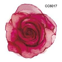 CC6017 6X6cm Little Colorful Rose Flower Designer Temporary Tattoo Sticker Body Art Water Transfer Fake Taty For Face