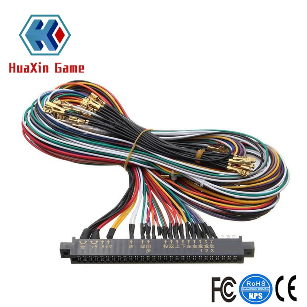arcade jamma 56 pin interface cabinet wire wiring harness pcb cable for arcade game consoles jamma [ 1000 x 1000 Pixel ]