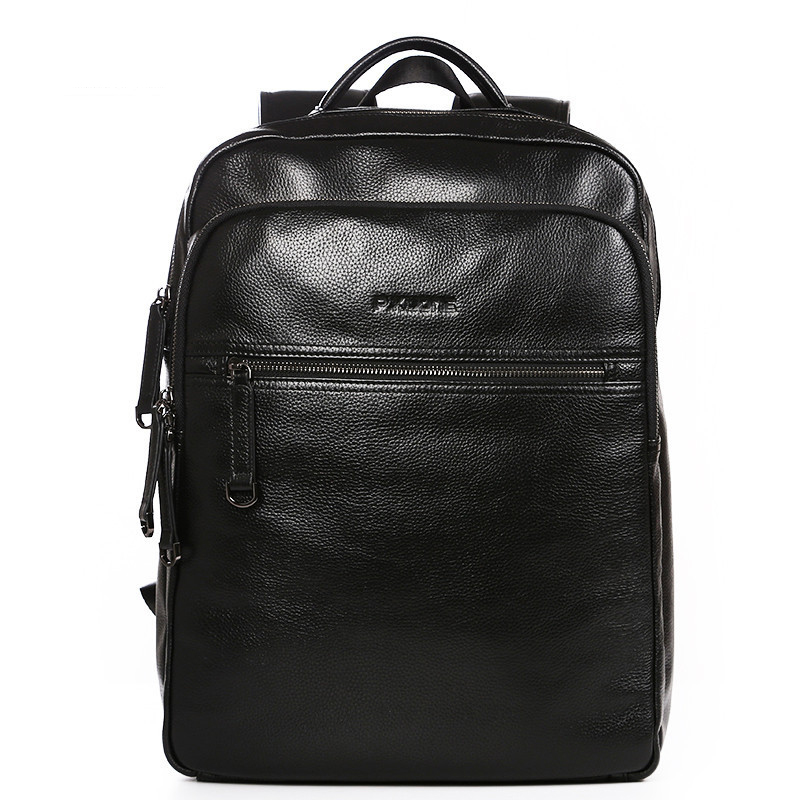 100% Genuine Leather Men Backpack Large Capacity Man Travel Bags High Quality Male Business Bag for Man Computer Laptop Bag business 15inch laptop backpack men large capacity computer backpackes office women quality waterproof travel bag school bags 45
