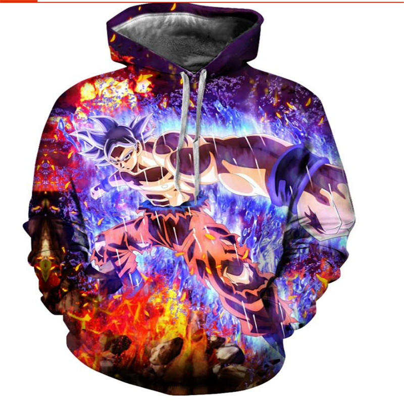 Hoodies Men Dragon Ball Anime Women Sweatshirt Fashion Long Sleeve thin Hoodie Hot sale 3D  Sweatshirts