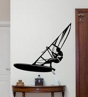 Hot Sale Windsurfer Windsurfing On The Sea Ocean Extreme Sport Fashion Style Wall Sticker Kids Bedroom