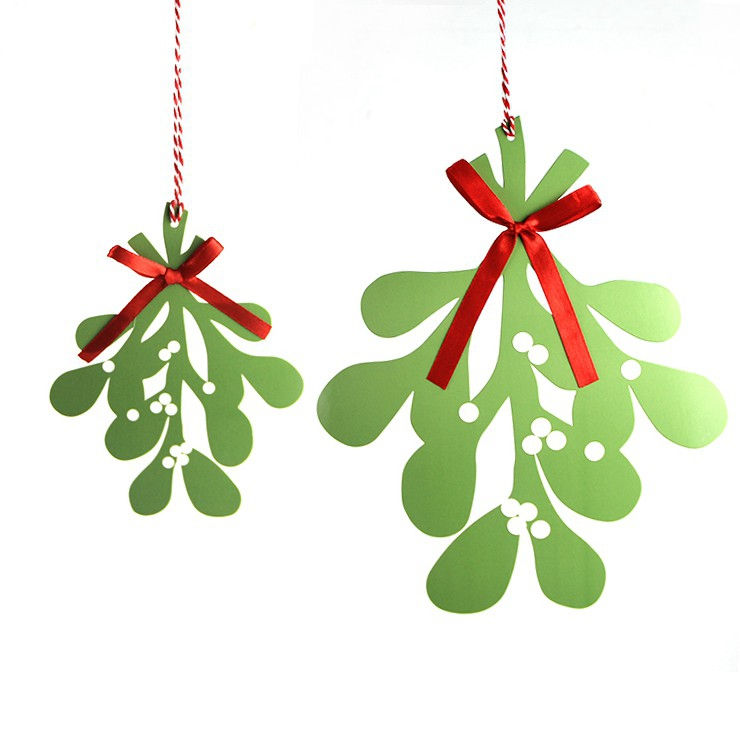 aliexpresscom buy paper mistletoe christmas garland hanging decoration christmas ornament unique gift from reliable gift gifts suppliers on hangzhou - Mistletoe Christmas