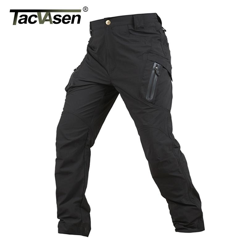 TACVASEN Tactical Pants Men Waterproof Cargo Pants Summer Quick Drying Hike Pants Thin Military Combat Trousers TD-YCXL-047