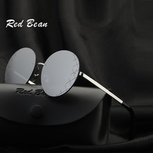 width-132 Remless round sunglasses creative coating small face lady fashion trend Anti-Reflective UV400 goggle women
